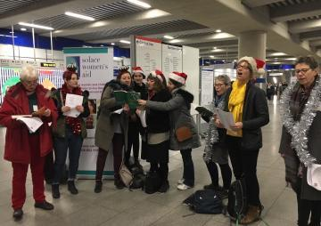 carol singers supporting solace