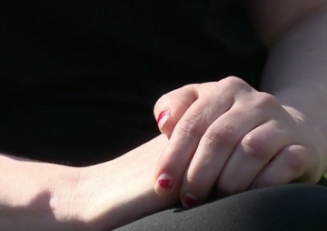 womans hands