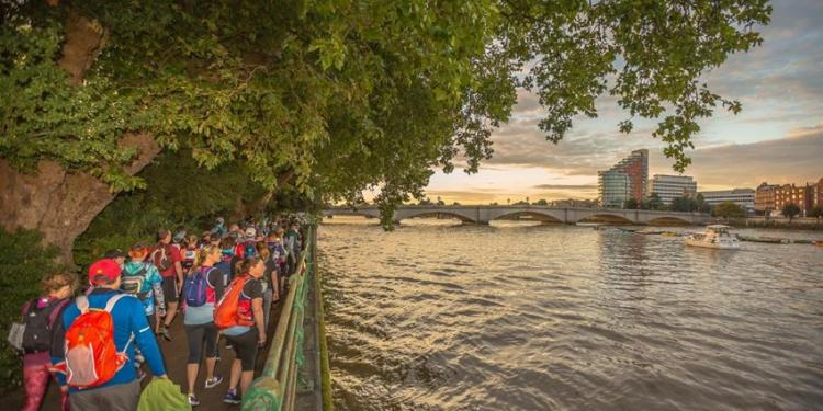 people walking in aid of Solace along the river Thames
