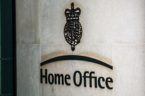 Image of the Home Office sign on building
